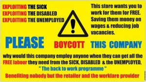 yellow workfare banner
