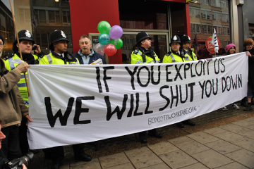 Edinburgh Workfare Protest Sat. 31st March