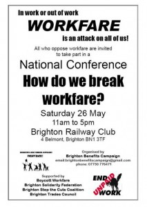 Poster for workfare conference