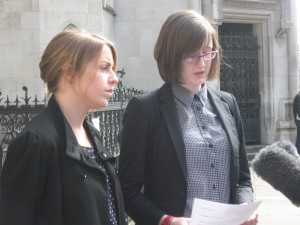 Cait Reilly outside court