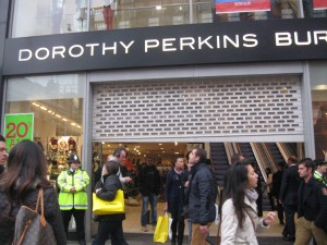 Dorothy Perkins shuts its shutters