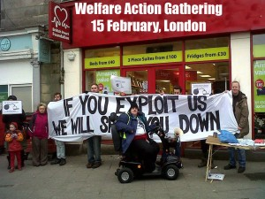 Action photo - Welfare Action gathering - 15 Feb