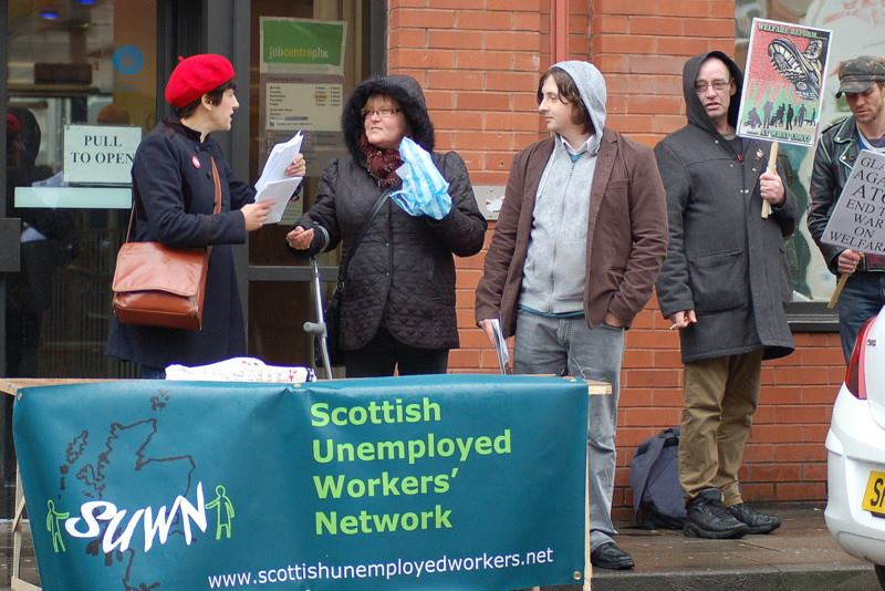 stall outside job centre