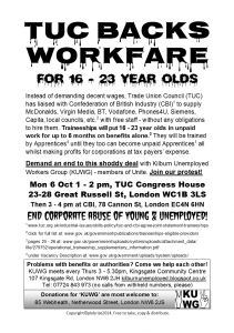 TUC A5 Protest