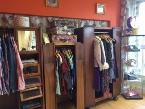 interior of charity shop
