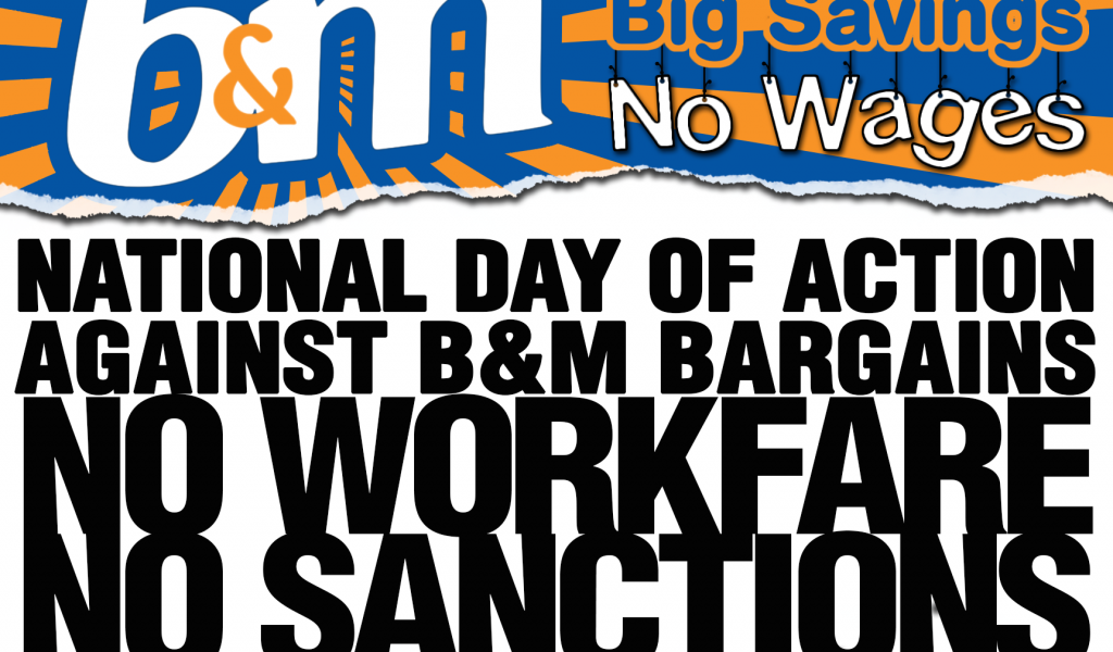 Image for #BigSavingsNoWages – 2nd day of action against B&M Stores