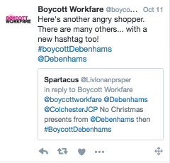 Debenhams: workfare derailed 1