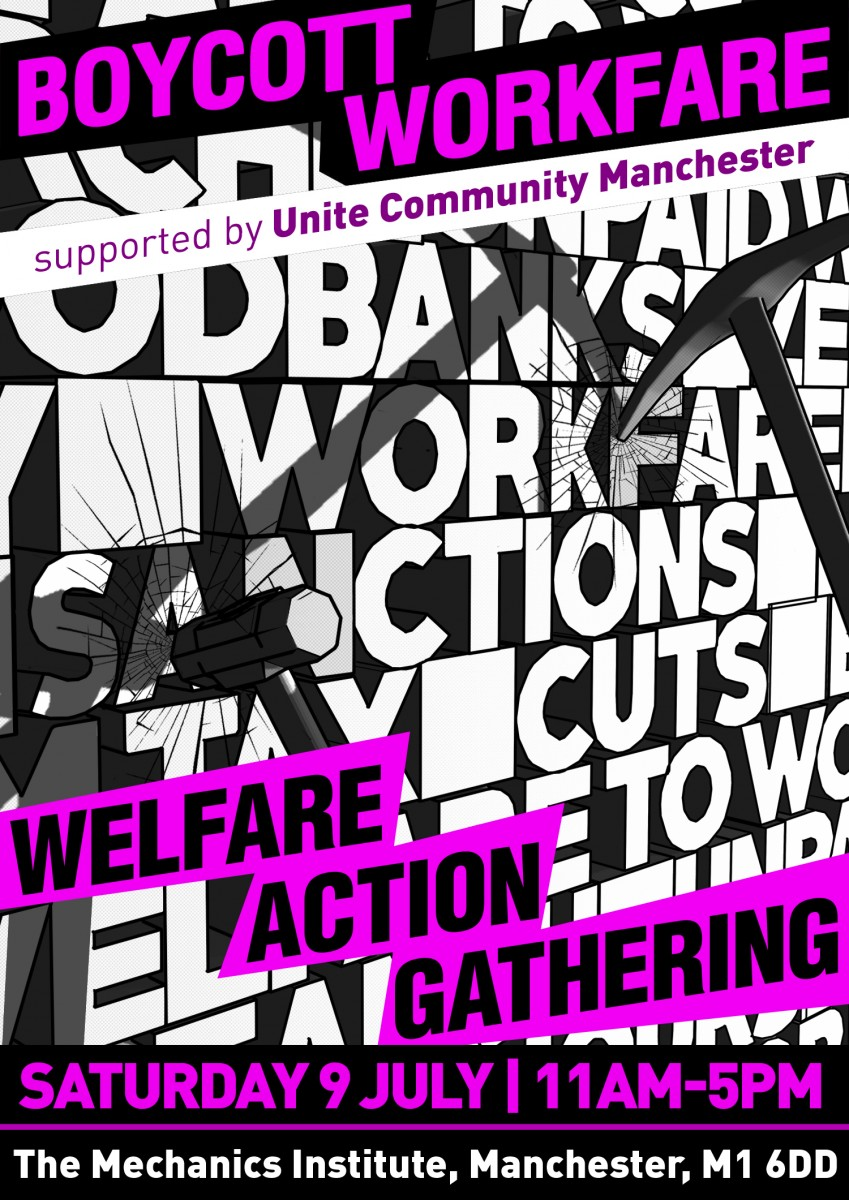 Image for Here's the programme for the Welfare Action Gathering in Manchester