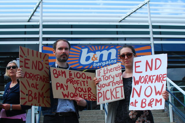 Image for Tales of unpaid toil: workfare continues at B&M
